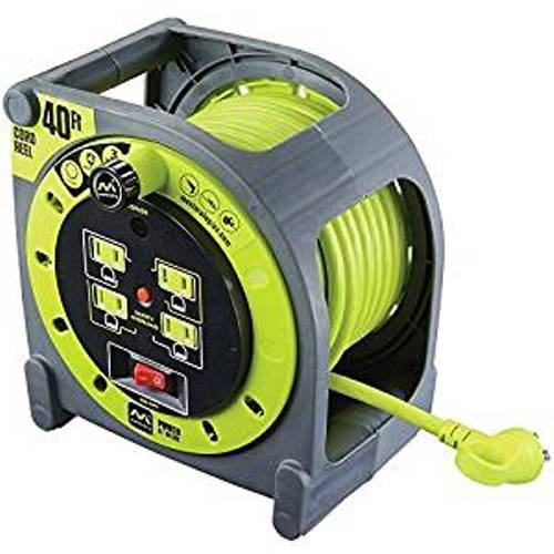 Masterplug 01A401114G4SL 40ft Extension Cord Case Reel