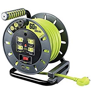 Masterplug 01A601114G4SL 60ft Extension Cord Open Reel