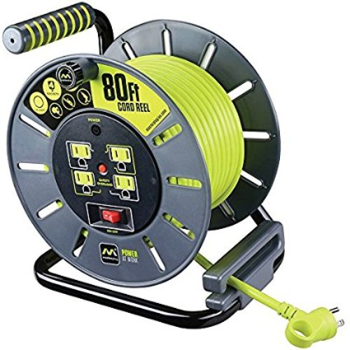 MasterPlug 0LA801114G4SL 80ft Extension Cord Open Reel
