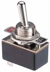 "35-064 Toggle switch, SPST, Metal actuator,1/2"" mount"