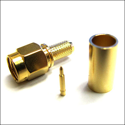 SMA CRIMP PLUG GOLD RG58/L195