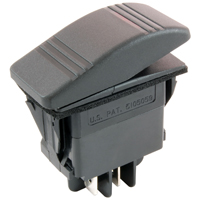 NTE 54-035 SWITCH ROCKER ILLUMINATED SPST 20A ON-NONE-OFF