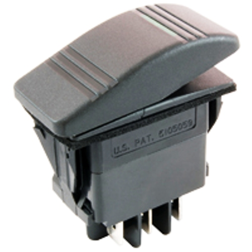 NTE 54-036 SWITCH ROCKER ILLUMINATED DPDT 20A 12VDC ON-OFF-ON