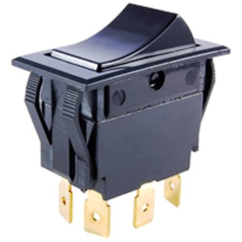 NTE 54-052 SWITCH ROCKER DPDT ON-OFF-ON 15A 125VAC
