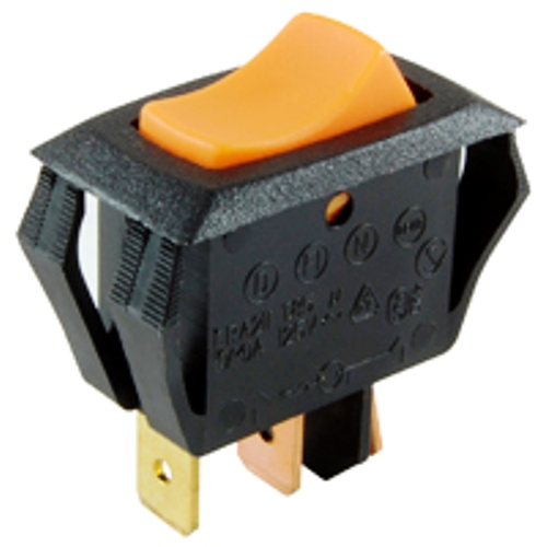 NTE 54-064 ROCKER SWITCH ILLUMINATED SPST OFF-NONE-ON