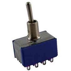 NTE 54-313 TOGGLE ON-OFF-ON 4PDT 6A 125VAC