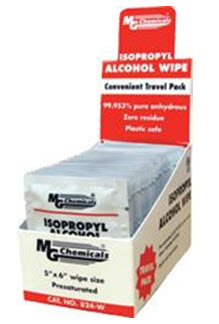 MG CHEMICALS 824-WX50 5x8 ALCOHOL WIPE 50-PK