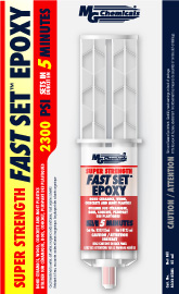 MG CHEMICALS 8332-25ML FAST SET EPOXY DUAL SYRINGE 25ML