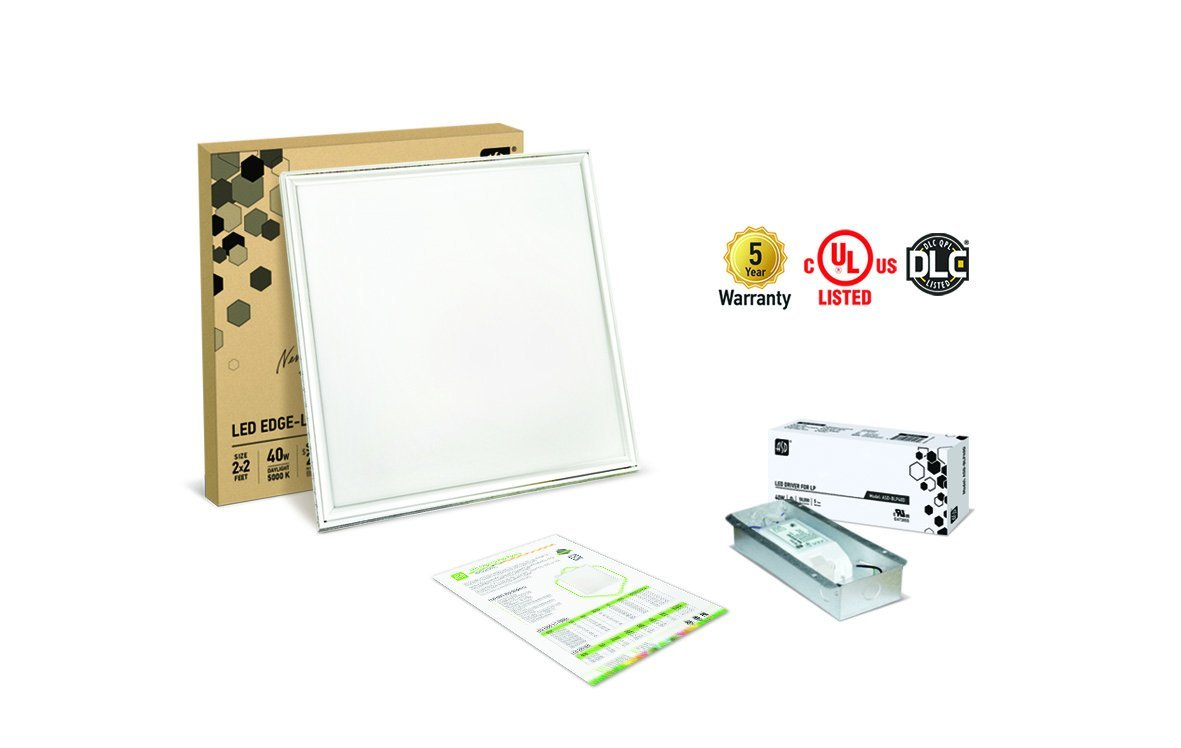 ASD LED Panel 2x2 Dimmable Edge-Lit Flat 27w 5000k