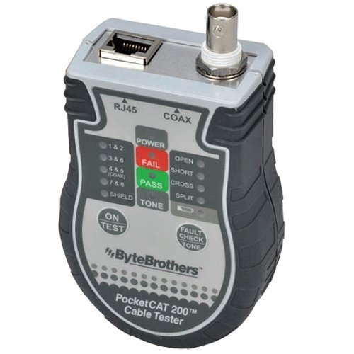 BYTE BROTHERS CTX200 Pocket CAT-CAT5/6 Coax Tester