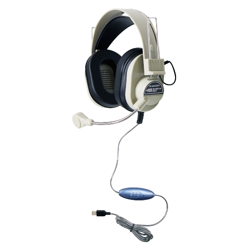 HAMILTONBUHL HA-66USBSM Deluxe USB Multimedia Headset with Goosn