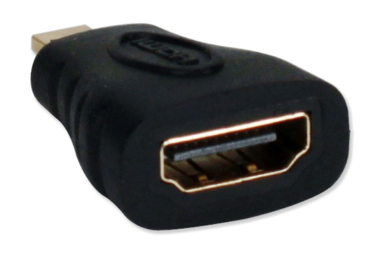 QVS HDAD-MFA Micro-HDMI Male to HDMI Female Adaptor
