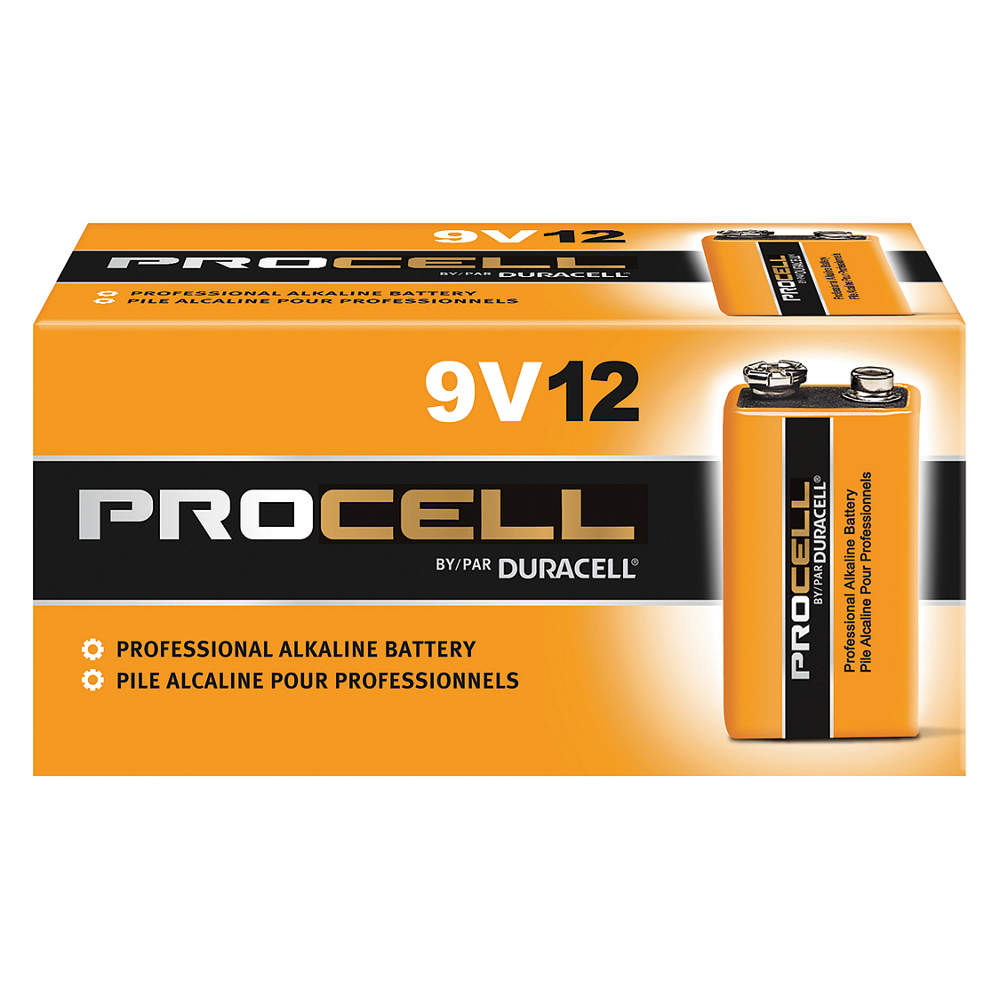 Duracell Procell PC1604 9V Alkaline Batteries - 12 Pack