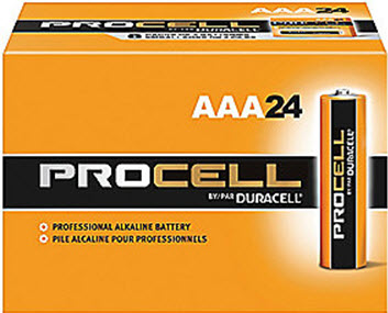Duracell Procell PC2400 AAA Alkaline Batteries - 24 Pack